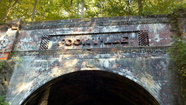 The Moonville Tunnel archway. Watch out for Baldie Keeton!